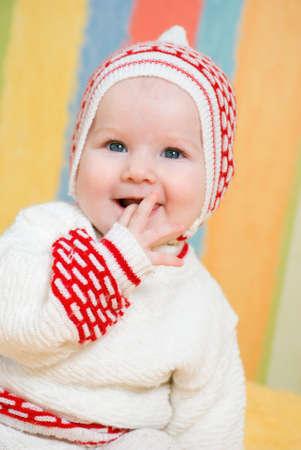 baby caucasian girl smiles Stock Photo - 4621298