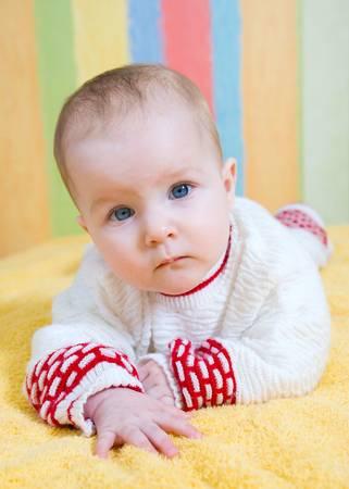 Portrait small  caucasian girl Stock Photo - 4678907