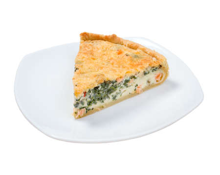 verdure: tasty home pie with verdure and salmon