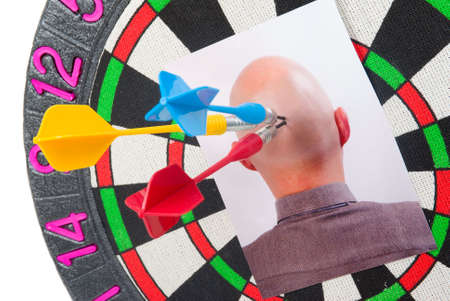 headhunter - business concepts.darts and photography of the head photo