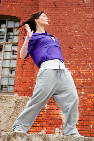 Hip hop female performing and act over  Stock Photo - 4948234