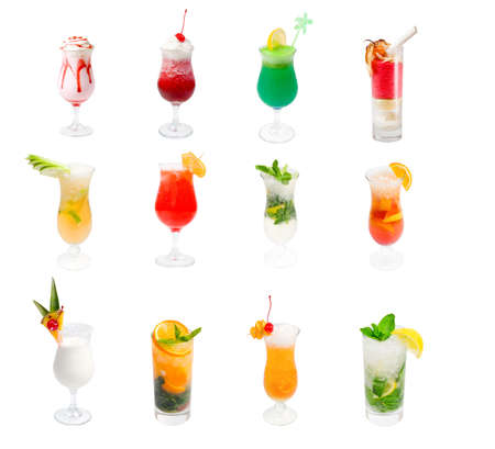 collection Alcoholic cocktails photo