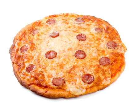 Pizza Pepperoni .Italian kitchen.on white background photo