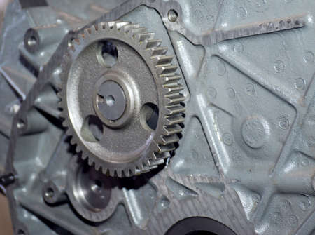 close up view of gears from old mechanism Stock Photo - 5722335