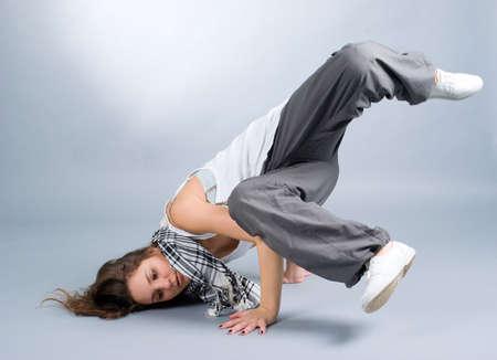 cool looking dancer posing . breakdance photo