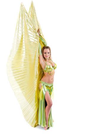 bailarinas arabes: Hermosa bailarina �rabe de vientre  Foto de archivo
