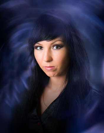 Beautiful black-haired witch Stock Photo - 6697554