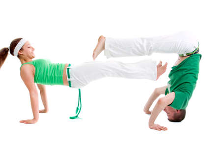 Contact Sport .Capoeira.over white background Stock fotó - 6735898