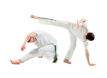 Contact Sport .Capoeira.over white background Stock fotó - 6779953
