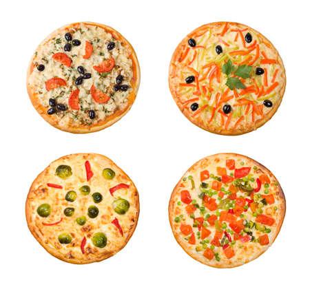 Pizza and italian kitchen. Studio. Isolated on white background. Stock Photo - 6900468