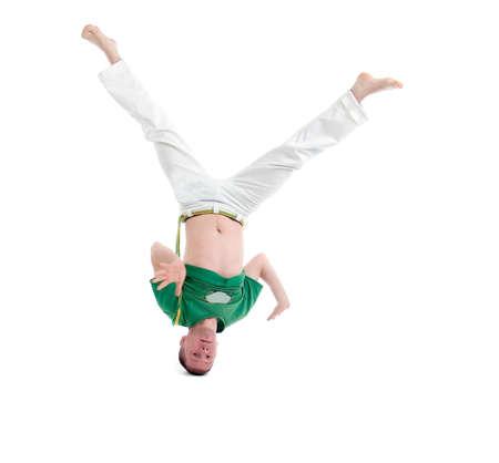 capoeira dancer posing  over white background Stock Photo - 7089971