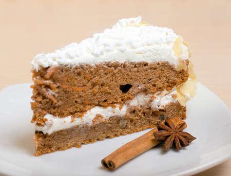 chocolate cake with cinnamon.sweet dessert  .close up photo
