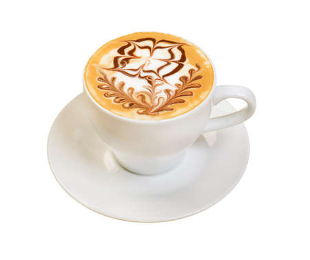 cappuccino cup.coffee. geïsoleerd op een witte achtergrond.