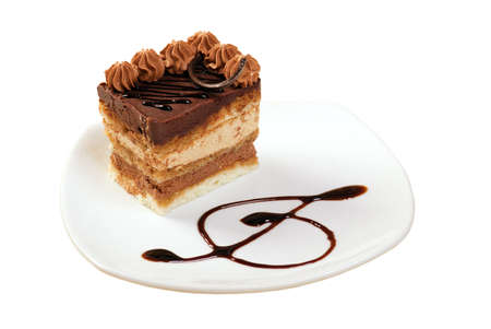 cake.sweet dessert.isolated on a white background. photo