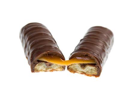 Chocolate bar isolated on white background Stock Photo - 8363471