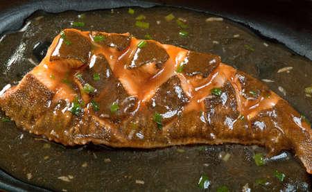 plaice: chinese cuisine .gold  plaice