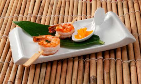 jumbo shrimp: Japanese skewered  Jumbo Shrimp