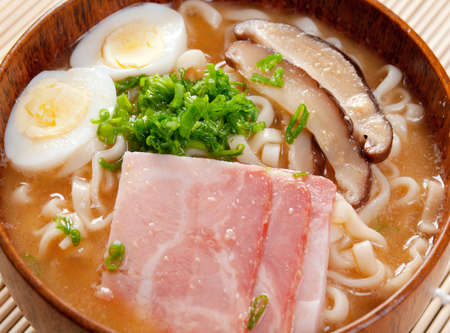 delicious miso ramen. japanese soup photo