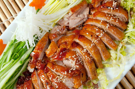Roasted duck, Chinese style  . Shallow depth-of-field. Archivio Fotografico