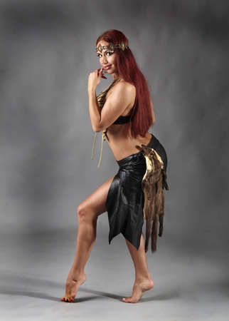 Amazon sexy donna selvaggia  Archivio Fotografico - 10224112