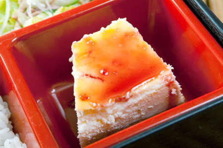 Japanese Bento Lunch .box of fast food with smoked eel photo
