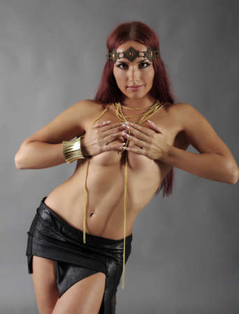 Sexy wild woman  amazon  .young warrior woman  photo