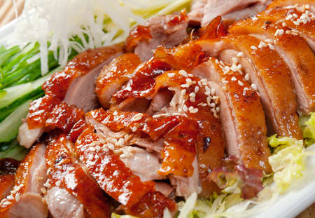 chinese food: Roasted duck, Chinese style  . Shallow depth-of-field. Stock Photo