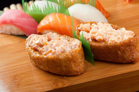 set of japanese sushi. traditional japanese food Stock Photo - 10599714