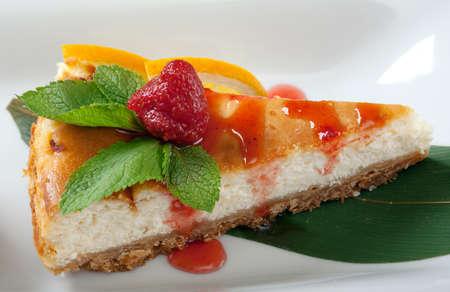 Dessert cheese cake closeup photo