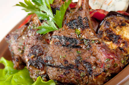 rack of lamb .cooking meat  barbecue Banco de Imagens - 10599723