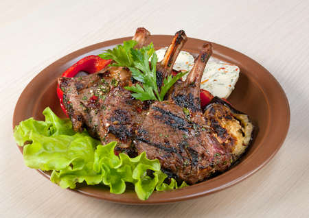 rack of lamb .cooking meat  barbecue Stock fotó - 10599737