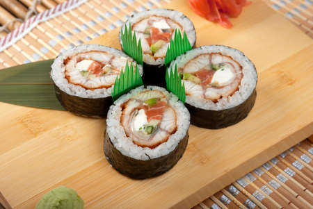 Japanese sushi . traditional japanese food Stock Photo