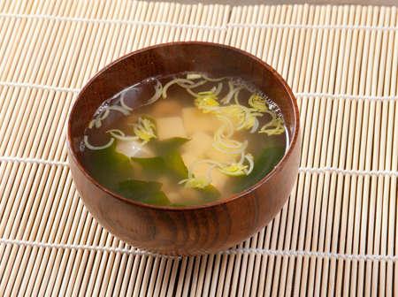 japanese soup closeup photo