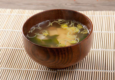 japanese soup closeup photo