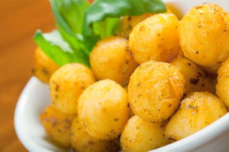 Baked potatoes wedges.Italian cuisine Stock Photo