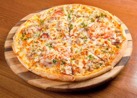 Tasty Italian pizza.Neapolitan,Close-up photo