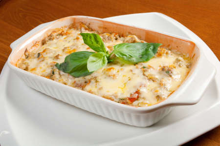 Lasagna with beef .Italian cuisine photo