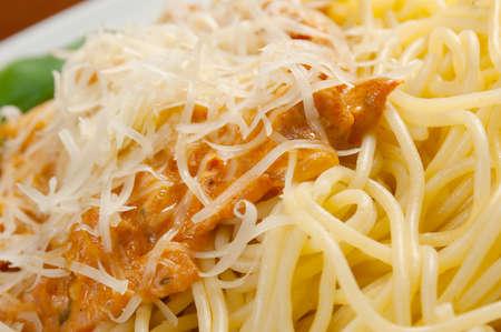 Spaghetti carbonara pasta.Italian cuisine photo
