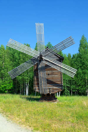 Wind mill of the north country,Russian traditional architecture Stock Photo - 11864950