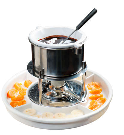 fondue with fruit photo