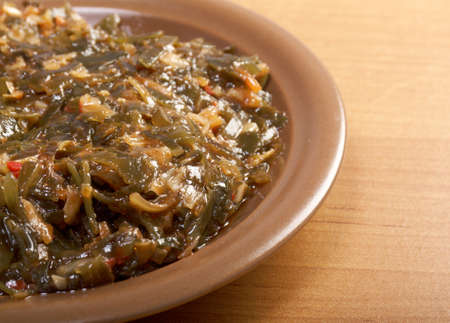 algaes salad -Laminaria Healthy Seaweed photo