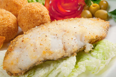 halibut: halibut with vegetable Italian cuisine Stock Photo