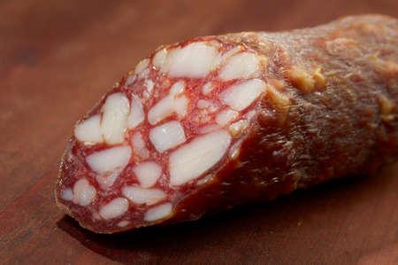 Close-up traditional  sausage salam Stock Photo