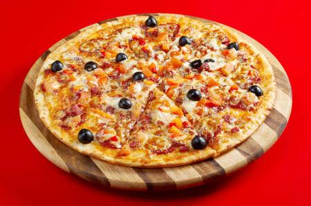 Pizza Pepperoni .italian kitchen. Studio 写真素材