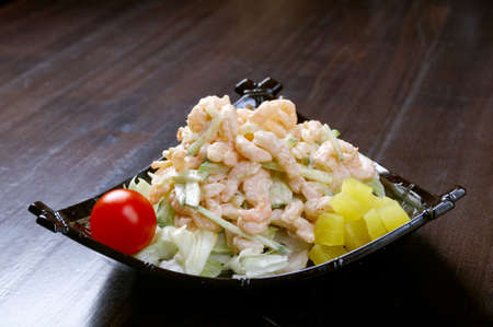 japanese salad with prawn and mushroom Stock Photo - 12951934