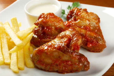 Fried Chicken,Fries potato 写真素材