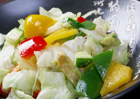 Japan salad  vegetables   closeup Stock Photo - 13213746