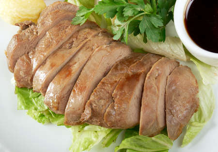 Roasted duck, Chinese style  . Shallow depth-of-field. photo