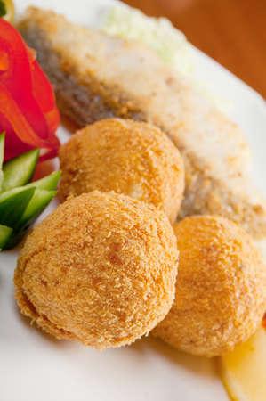 halibut: halibut with vegetable.Italian cuisine