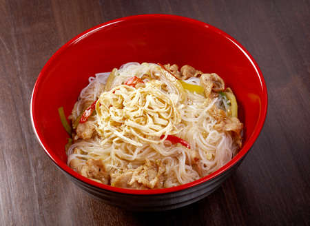 mian: pork slice  and noodle.Japanese cuisine Stock Photo